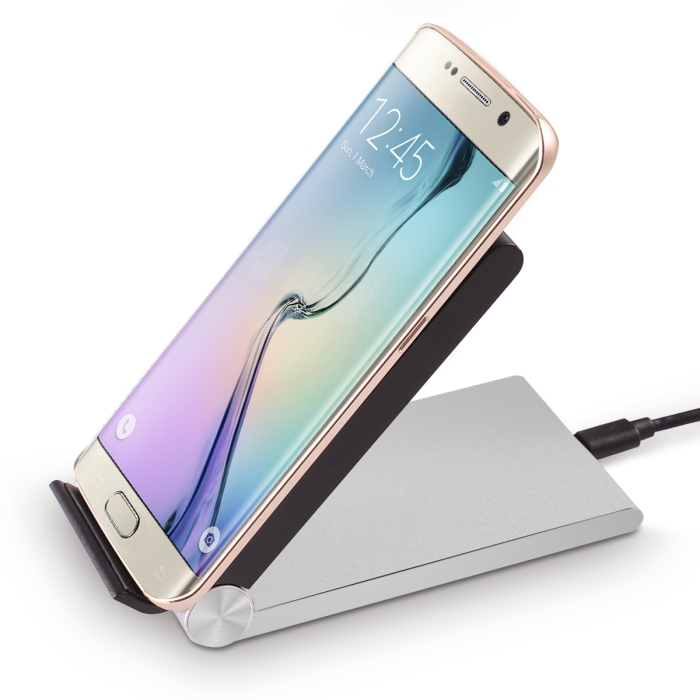 FLOUREON Qi Wireless Charger 3-Coils Folding Charging Stand